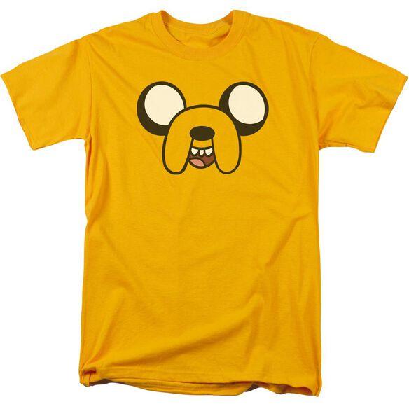 Adventure Time Jake Head Short Sleeve Adult T-Shirt