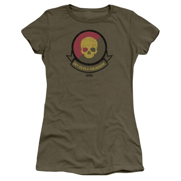 Kong Skull Island Squadron Hbo Short Sleeve Junior Sheer Military T-Shirt