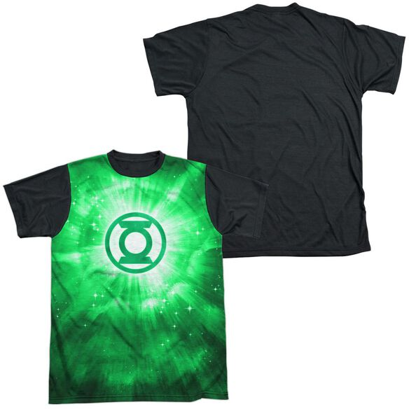 Green Lantern Green Energy Short Sleeve Adult Front Black Back T-Shirt