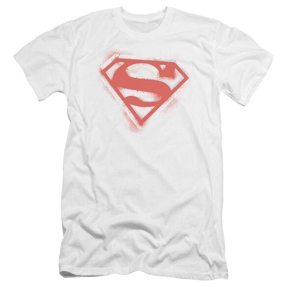 Superman Spray Paint Shield Premuim Canvas Adult Slim Fit
