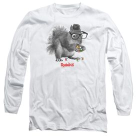 Rubiks Cube Nerd Squirrel Long Sleeve Adult T-Shirt