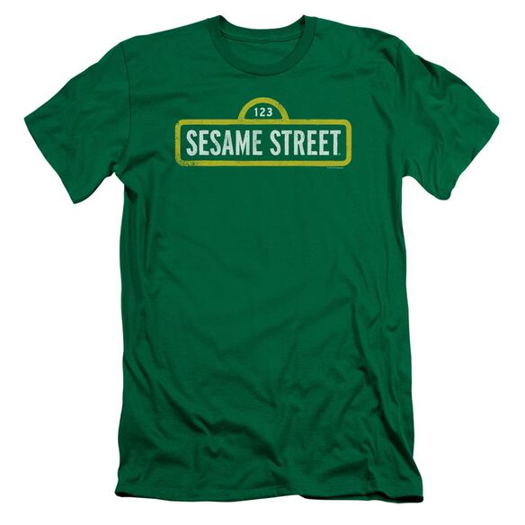 Sesame Street Rough Logo Premuim Canvas Adult Slim Fit Kelly
