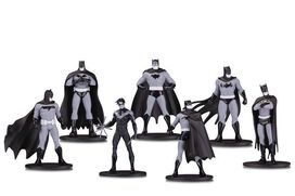 Batman Black & White Mini PVC Figure 7 pack [Set #1]