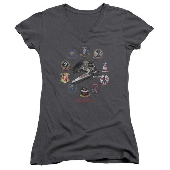 Bsg Badges Junior V Neck T-Shirt