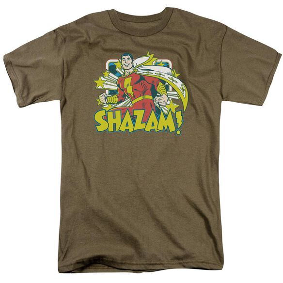 Dc Shazam Stars Short Sleeve Adult Safari T-Shirt