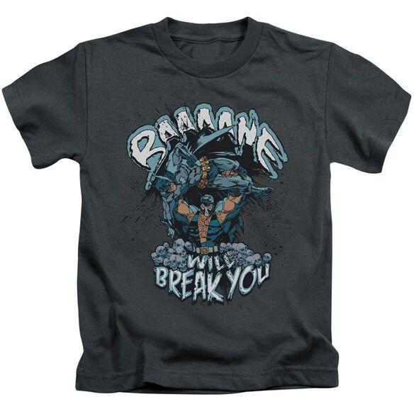 BATMAN BANE WILL BREAK YOU - S/S JUVENILE 18/1 - CHARCOAL - T-Shirt
