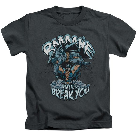 Batman Bane Will Break You Short Sleeve Juvenile Charcoal T-Shirt