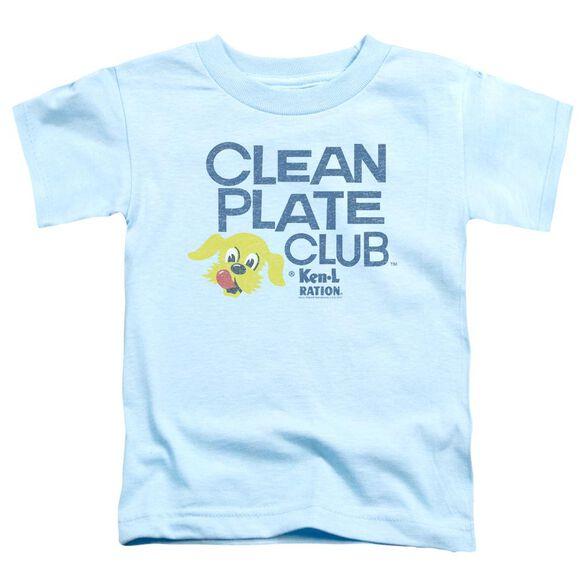 Ken L Ration Clean Plate Short Sleeve Toddler Tee Light Blue Lg T-Shirt