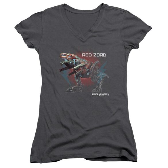 Power Rangers Red Zord Junior V Neck T-Shirt