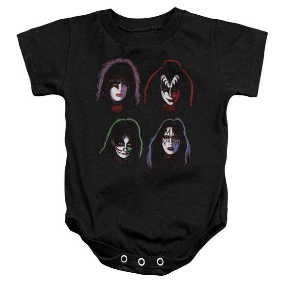 Kiss Solo Heads Infant Snapsuit Black