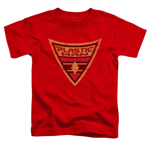 Batman Bb Plastic Man Shield Short Sleeve Toddler Tee Red Md T-Shirt