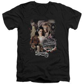 LABYRINTH 25 YEARS OF MAGIC - S/S ADULT V-NECK - BLACK T-Shirt