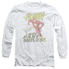 DC FLASH FAST MOVES - L/S ADULT 18/1 - WHITE T-Shirt