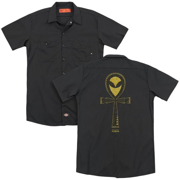 Ancient Aliens Alien Ankh (Back Print) Adult Work Shirt