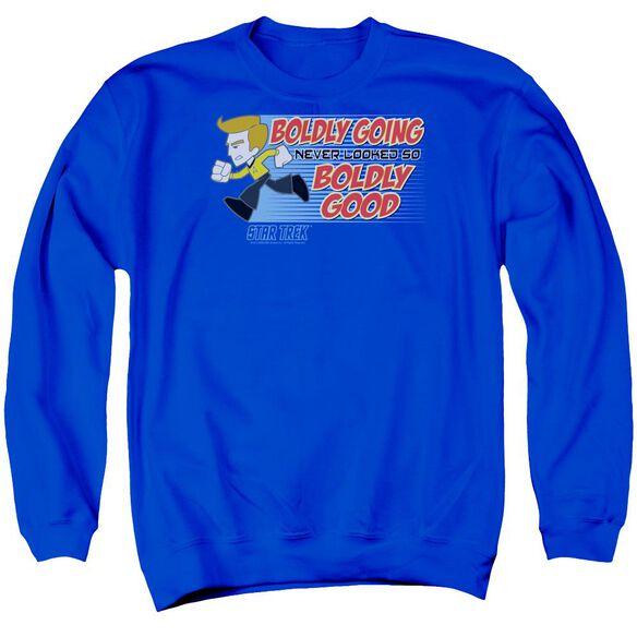 Quogs Boldly Good Adult Crewneck Sweatshirt Royal