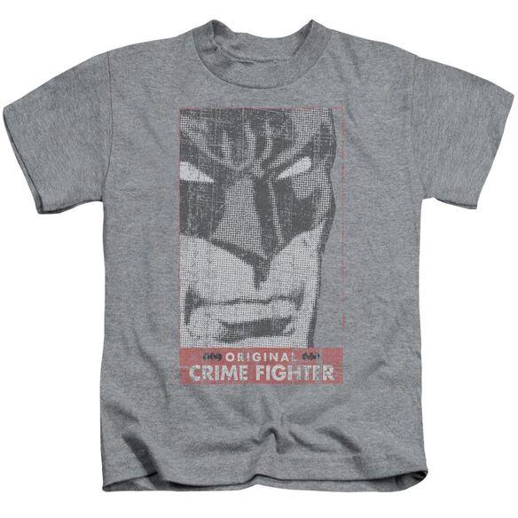 Batman Orginal Crime Fighter Short Sleeve Juvenile Athletic Heather T-Shirt