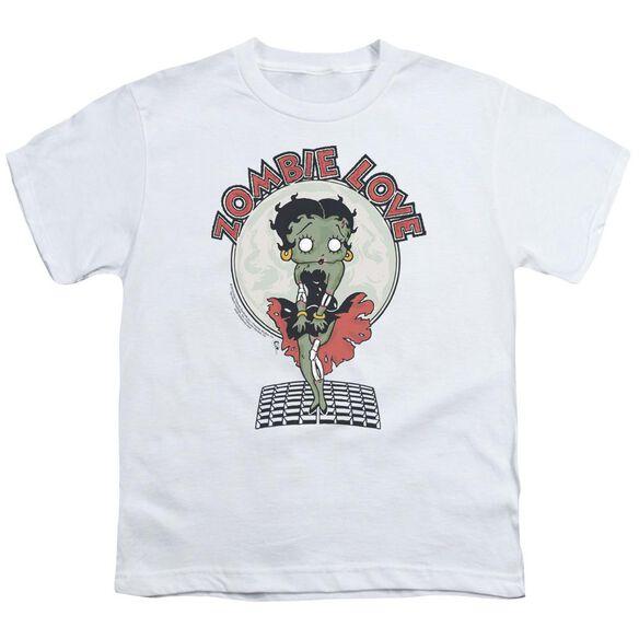 Betty Boop Breezy Zombie Love Short Sleeve Youth T-Shirt