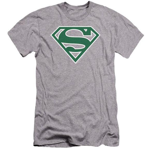 Superman Green & White Shield Premuim Canvas Adult Slim Fit Athletic