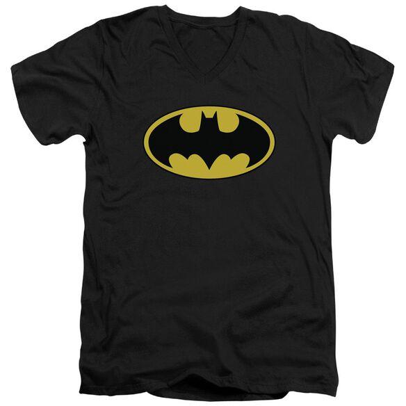 Batman Classic Logo Short Sleeve Adult V Neck T-Shirt