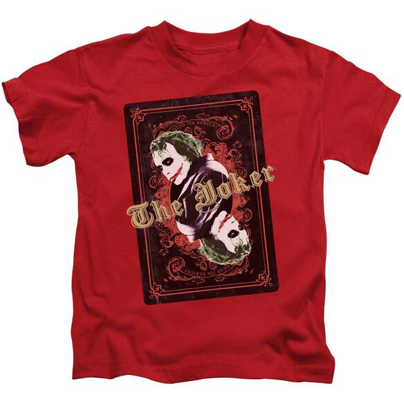 Dark Knight Jokers Wild Short Sleeve Juvenile T-Shirt