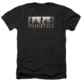 Injustice Gods Among Us Logo Adult Heather