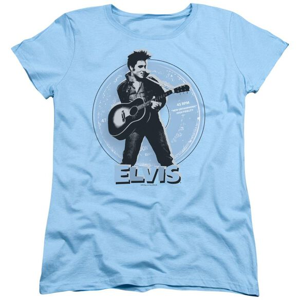 Elvis Presley 45 Rpm Short Sleeve Womens Tee Light T-Shirt