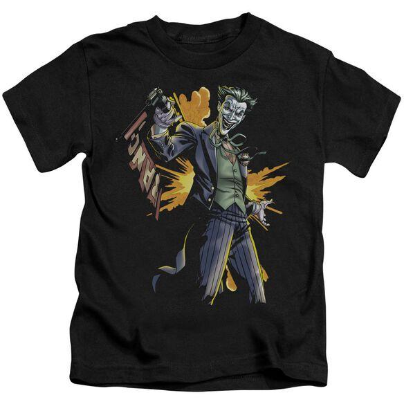 Batman Joker Bang Short Sleeve Juvenile Black T-Shirt