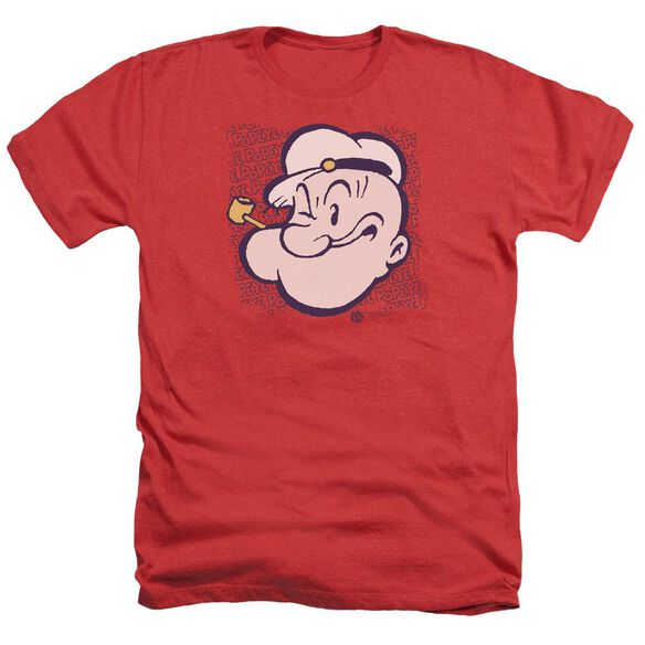 Popeye Head - Adult Heather - Red