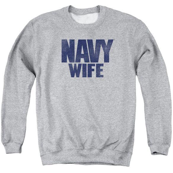 Navy Wife Adult Crewneck Sweatshirt Athletic