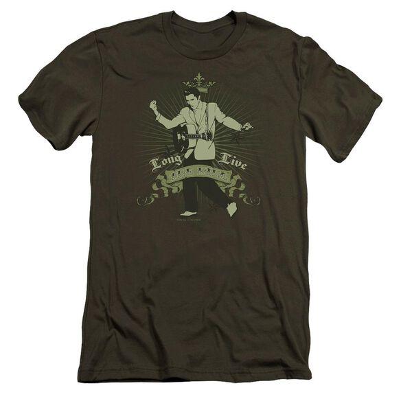 Elvis Long Live The King Premuim Canvas Adult Slim Fit Military