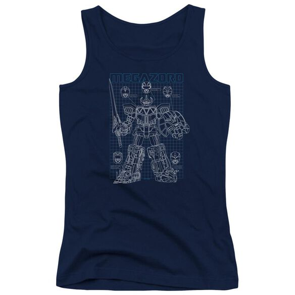 Power Rangers Mega Plans Juniors Tank Top