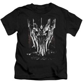 Lor Big Sauron Head Short Sleeve Juvenile Black T-Shirt