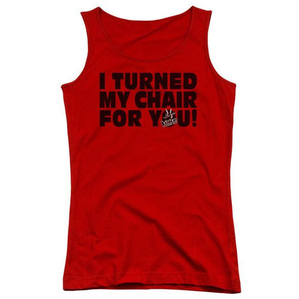 Voice Turned My Chair Juniors Tank Top