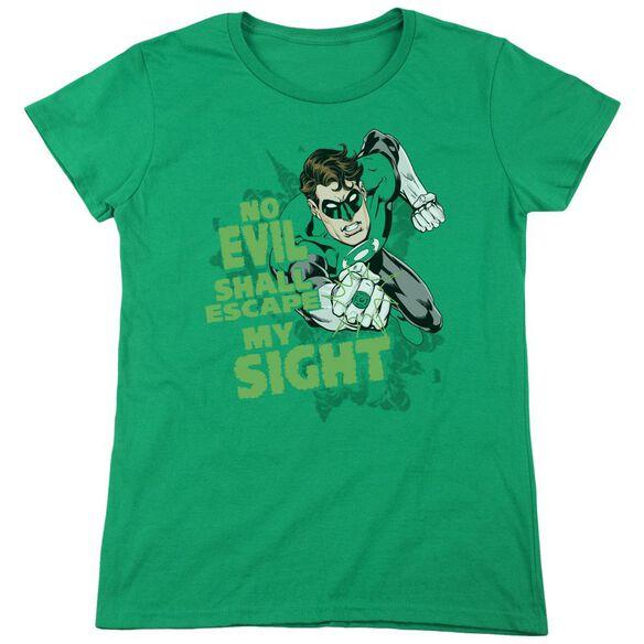 Lantern No Evil Short Sleeve Womens Tee Kelly T-Shirt