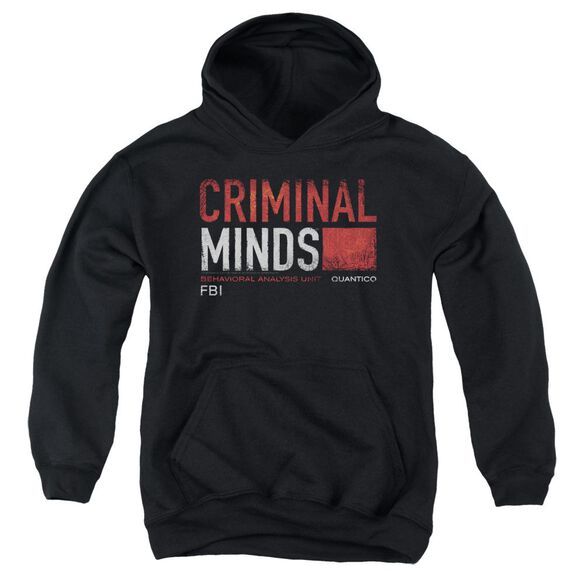 Criminal Minds Title Card Youth Pull Over Hoodie