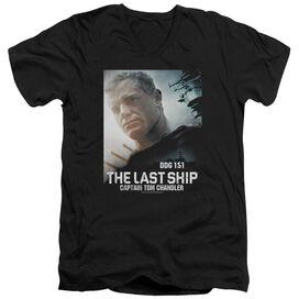 Last Ship Captain Short Sleeve Adult V Neck T-Shirt