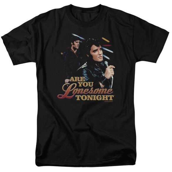Elvis Are You Lonesome Short Sleeve Adult T-Shirt