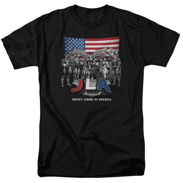 Jla All American League Short Sleeve Adult T-Shirt