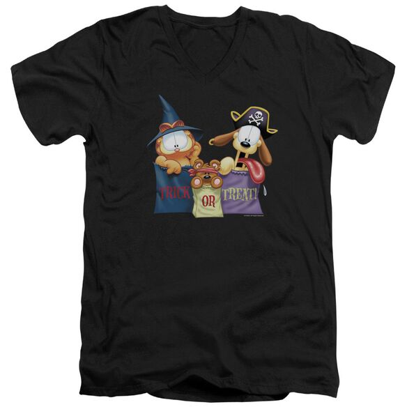 Garfield Grab Bags Short Sleeve Adult V Neck T-Shirt