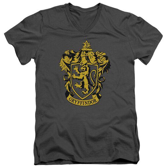 Harry Potter Gryffindor Crest Short Sleeve Adult V Neck T-Shirt
