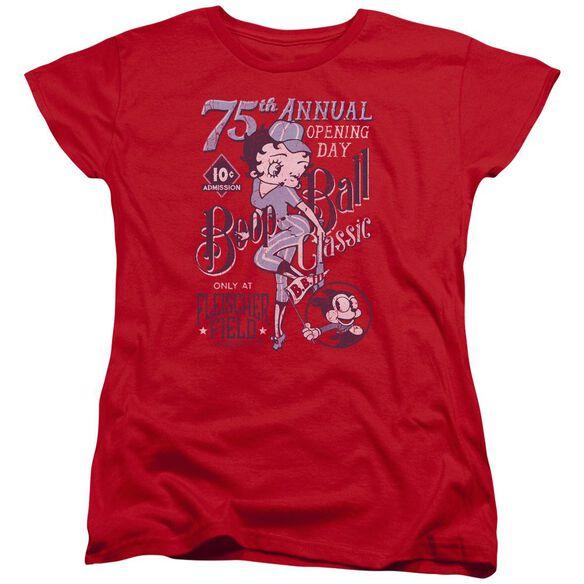 Betty Boop Boop Ball Short Sleeve Womens Tee T-Shirt