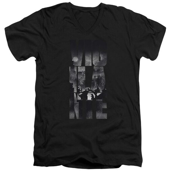 Batman V Superman Rainy Viglante Short Sleeve Adult V Neck T-Shirt