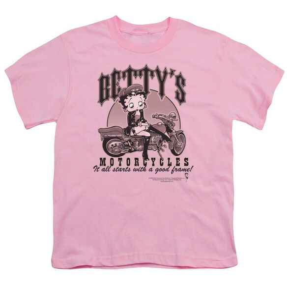 Betty Boop Betty's Motorcycles Short Sleeve Youth T-Shirt