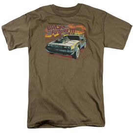 Back To The Future Iii Wild West Short Sleeve Adult Safari T-Shirt