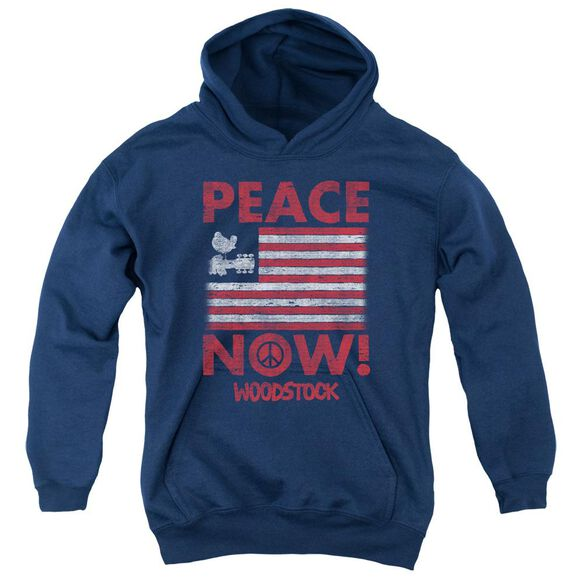 Woodstock Peace Now Youth Pull Over Hoodie