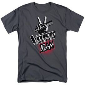 The Voice Team Adam Short Sleeve Adult Charcoal T-Shirt