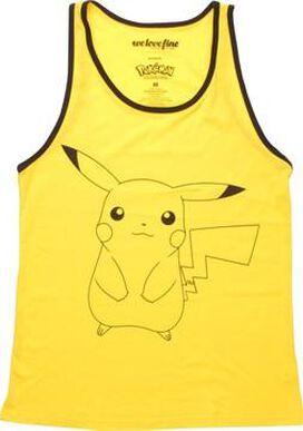 Pokemon Pikachu Outline Ringer MF Tank Top