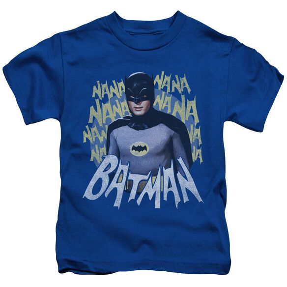 Batman Classic Tv Theme Song Short Sleeve Juvenile Royal Blue T-Shirt