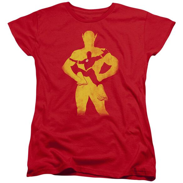 Jla Flash Knockout Short Sleeve Womens Tee T-Shirt