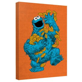 Sesame Street Cookie Paint Quickpro Artwrap Back Board